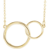 Interlocking Circle Necklace or Center