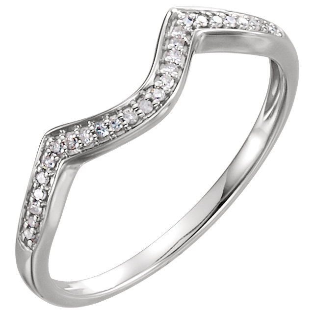 14K White Band for 4mm Round Ring