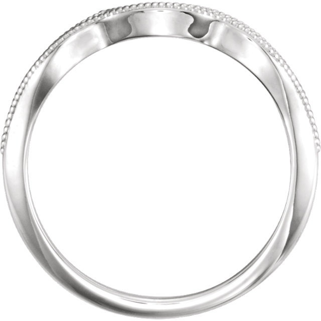 14K White .06 CTW Diamond Matching Band