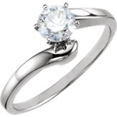 6-Prong Solitaire Engagement Ring or Band
