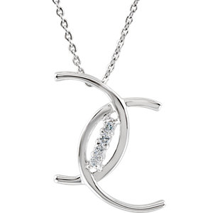 Sterling Silver Cubic Zirconia 4 C-s of Purity 18