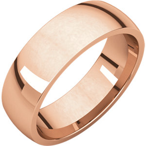 18K Rose 6 mm Lightweight Comfort-Fit Band