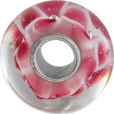 Kera® Pink Floral-Inspired Glass Bead