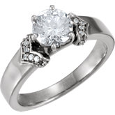 Accented Engagement Ring Base