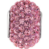Kera® Roundel Bead with Pave' Rose Crystals