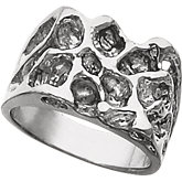 Men's Solid Nugget Ring
