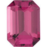 Emerald/Octagon Genuine Pink Tourmaline