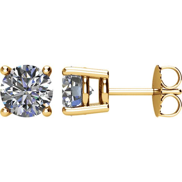 14K Yellow 2 CTW Diamond Earrings