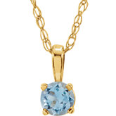 4-Prong Solitaire Necklace or Pendant
