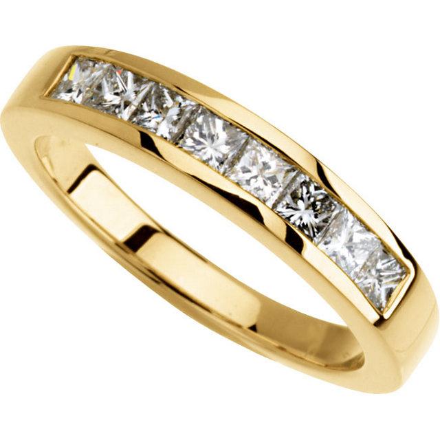 14K Yellow 3/4 CTW Diamond Band