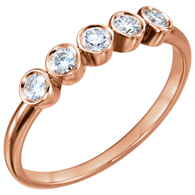 14K Rose 1/3 CTW Diamond Ring