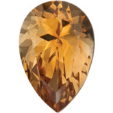 Pear SWAROVSKI GEMSTONES™ Genuine Saffron Citrine
