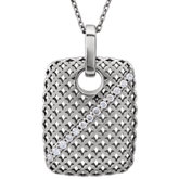 Pierced-Style Rectangular Pendant or Necklace