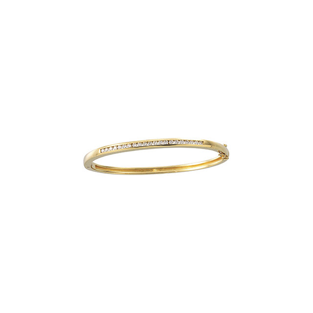14K Yellow 5/8 CTW Diamond Bangle Bracelet