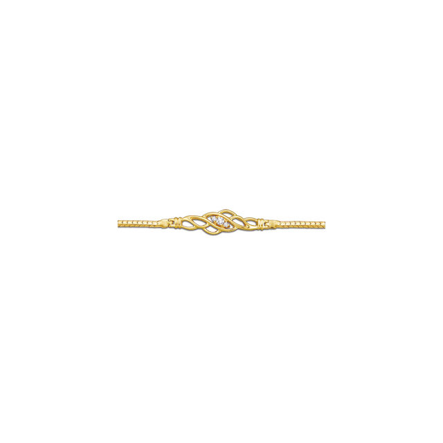 14K Yellow 1/10 CTW Diamond Bracelet