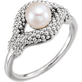Beaded Pearl Ring