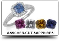 Asscher Cut Princess Sapphires