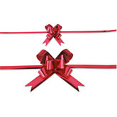 Red Metallic Splendorette Pull Bows - Pack of 100