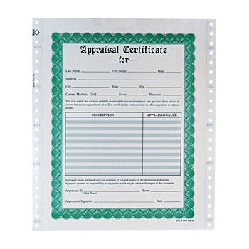 Appraisal Forms with Envelopes | Stuller