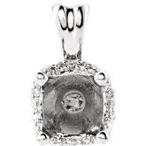 Round 4-Prong Solstice Solitaire® Pendant