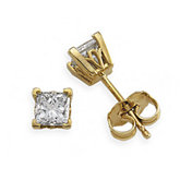 Square 4-Prong V-End Scroll Setting® Stud Earrings