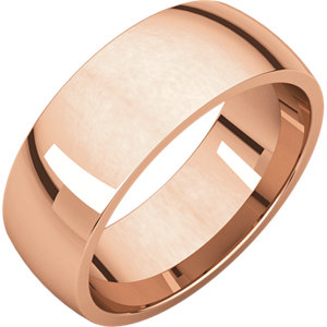 14K Rose 7 mm Lightweight Comfort-Fit Band