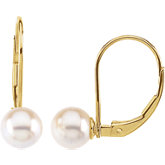 Akoya Cultured Pearl Lever Back Earrings