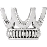 Oval 6-Prong Crown-Design Setting