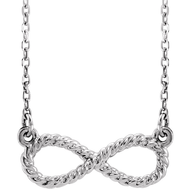 14K White Rope Infinity-Inspired 18