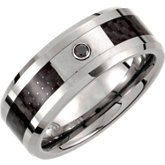 Tungsten & Carbon Fiber Beveled Edge Band