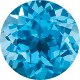 Round Genuine Swiss Blue Topaz