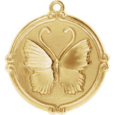 Butterfly Medallion Dangle