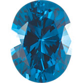 Oval Imitation Blue Zircon