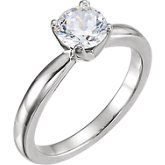 Tall Solstice Solitaire® Engagement Ring