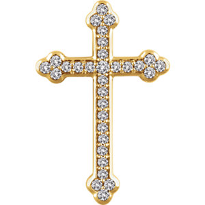 Pendant, 14K Yellow 1/2 CTW Diamond Cross Pendant