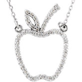 Diamond Apple Necklace or Center