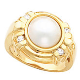 Accented Mabé Pearl Ring