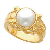Scroll Ring Mounting for Mabe Pearl