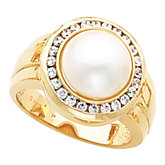 Halo-Style Mabé Pearl Ring