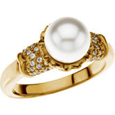 Accented Ring Mounting for Pearl