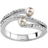 Accented Ring Mounting for Pearls