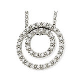 Diamond Concentric Circle Necklace