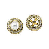 Halo-Style Earring Jackets for Pearl Studs