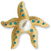 Genuine Turquoise Semi-mount Brooch