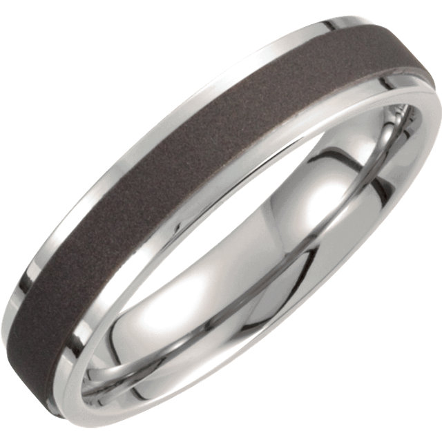 Titanium 5mm Oxidized Flat Band Size 6