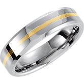 Cobalt 6 mm Band with 14K Yellow Inlay