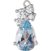 Pear 3-Prong Cluster Accented Dangle