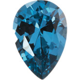 Pear Imitation Blue Zircon