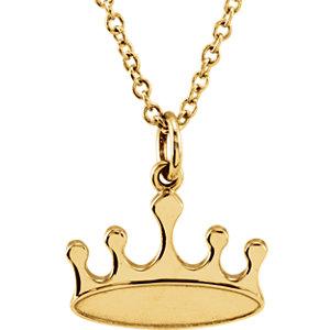 14K Yellow Tiny Posh® Crown 16-18