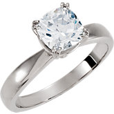 Twin-Prong Solitaire Engagement Ring